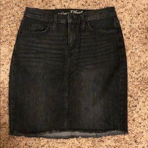 Universal Thread Size 2 Denim Black Mini Skirt